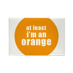 I'm an orange Rectangle Magnet