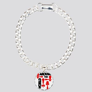 red ATW 7 Charm Bracelet, One Charm