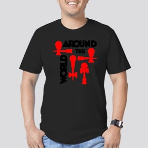 red ATW 7 Men's Fitted T-Shirt (dark)
