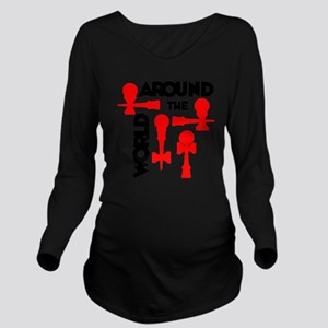 red ATW 7 Long Sleeve Maternity T-Shirt