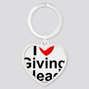 Giving Head Heart Keychain
