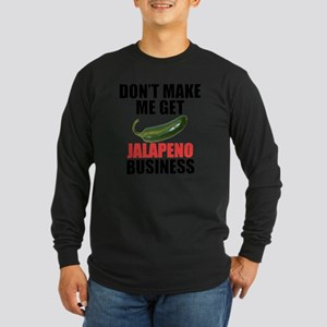 Jalapeno Business Long Sleeve Dark T-Shirt