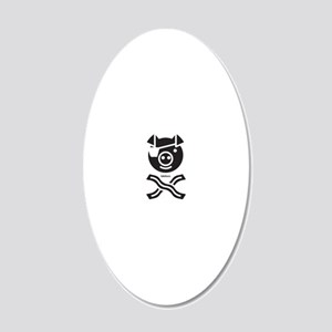 The Bacon Pirate, Funny 20x12 Oval Wall Decal