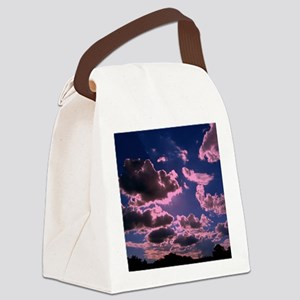 pink clouds Canvas Lunch Bag