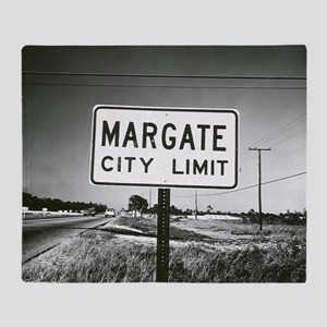 Margate City Limits Street Sign Throw Blanket