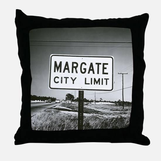 Margate City Limits Street Sign Throw Pillow
