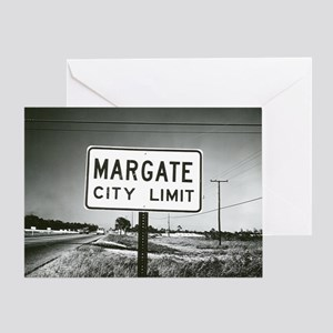 Margate City Limits Street Sign Greeting Card