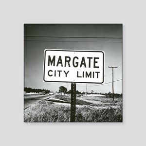 "Margate City Limits Street  Square Sticker 3"" x 3"""