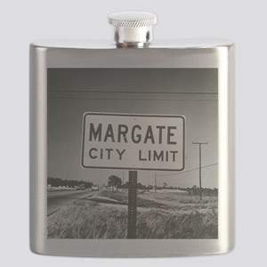 Margate City Limits Street Sign Flask