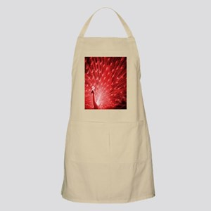 Red Peacock Apron