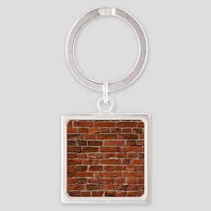 Brick Wall Square Keychain
