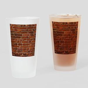 Brick Wall Drinking Glass