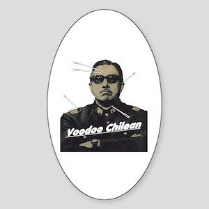 Voodoo Chilean Oval Sticker