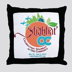 Shabbat OC Throw Pillow