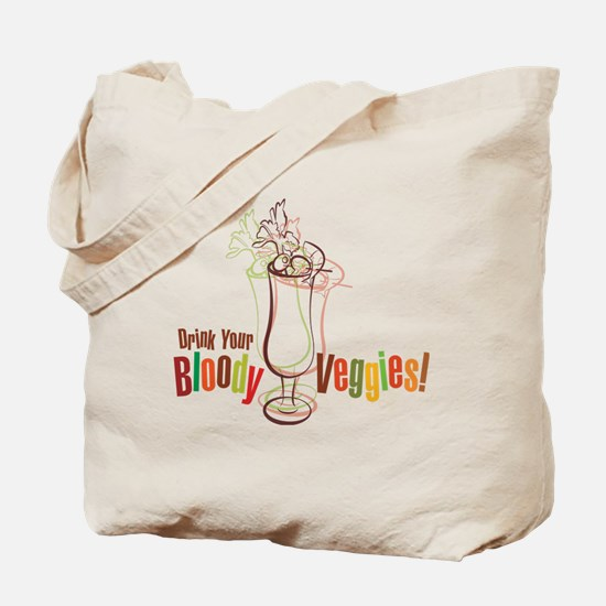 Drink Your Bloody Veggies! Tote Bag