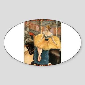 Night at the circus - Strobridge - 1893 Sticker