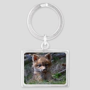 baby fox Landscape Keychain