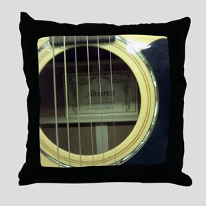Guitar Sound Hole Throw Pillow