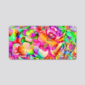 Rainbow Gell Shapes Aluminum License Plate