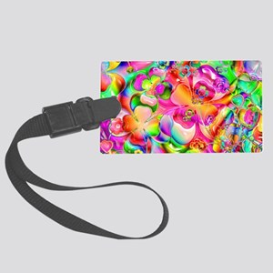 Rainbow Gell Shapes Large Luggage Tag