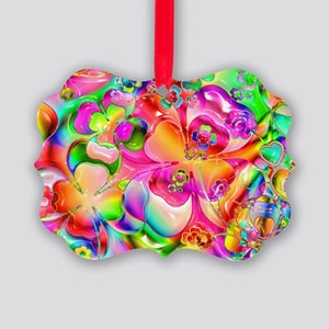 Rainbow Gell Shapes Picture Ornament