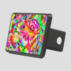 Rainbow Gell Shapes Rectangular Hitch Cover