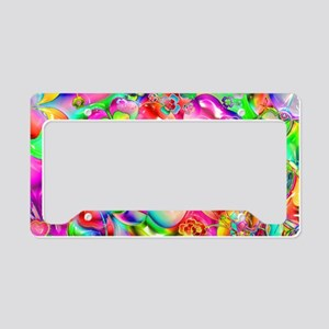 Rainbow Gell Shapes License Plate Holder