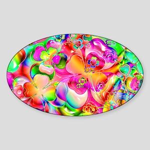 Rainbow Gell Shapes Sticker (Oval)