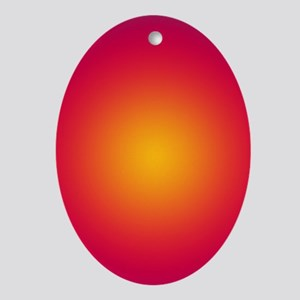 Rising Sun Oval Ornament