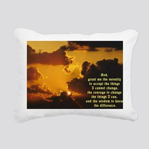 Serenity Prayer Rectangular Canvas Pillow