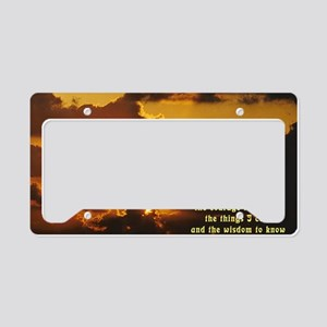 Serenity Prayer License Plate Holder