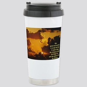 Serenity Prayer Stainless Steel Travel Mug