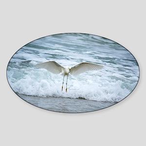 Born of sea-foam Sticker (Oval)
