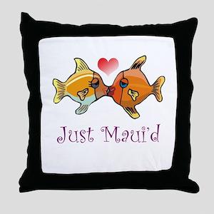 Just Maui'd Tropical Fish Log Throw Pillow