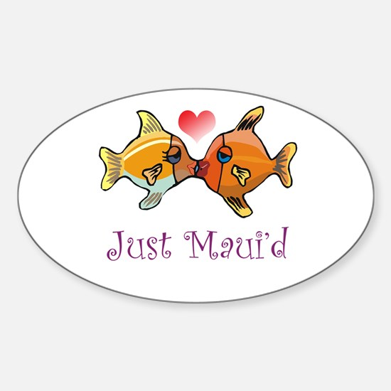 Just Maui'd Tropical Fish Log Oval Decal