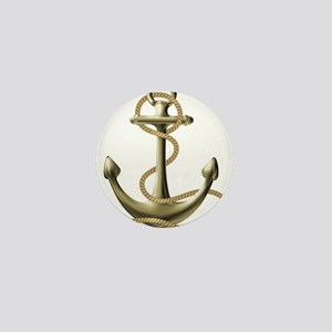 Gold Anchor Mini Button