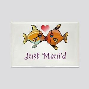 Just Maui'd Tropical Fish Log Rectangle Magnet