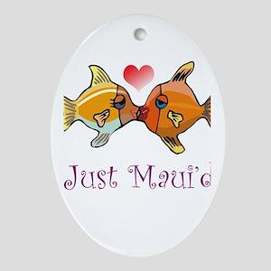 Just Maui'd Tropical Fish Log Oval Ornament