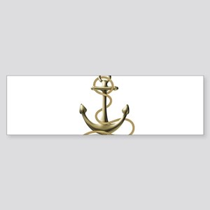 Gold Anchor Bumper Sticker