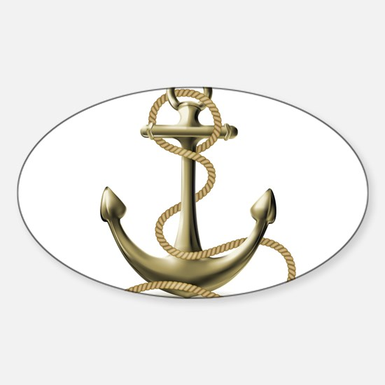 Gold Anchor Decal