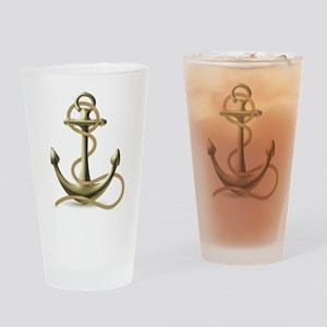 Gold Anchor Drinking Glass