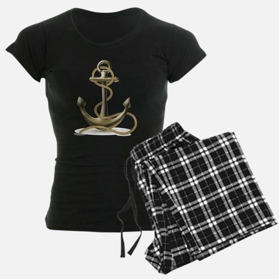Gold Anchor Pajamas