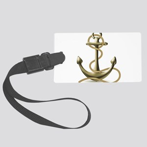 Gold Anchor Luggage Tag