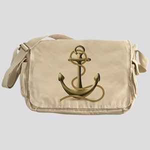 Gold Anchor Messenger Bag