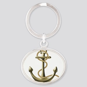 Gold Anchor Keychains