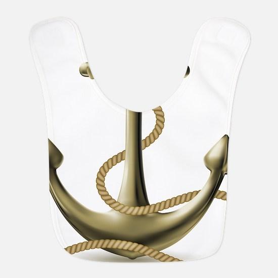 Gold Anchor Bib