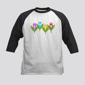 GPS Flowers Kids Baseball Jersey