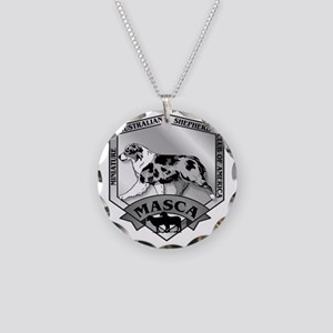 MASCA Logo  B&W Necklace Circle Charm