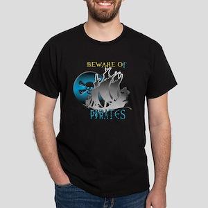Beware of Pirates Dark T-Shirt