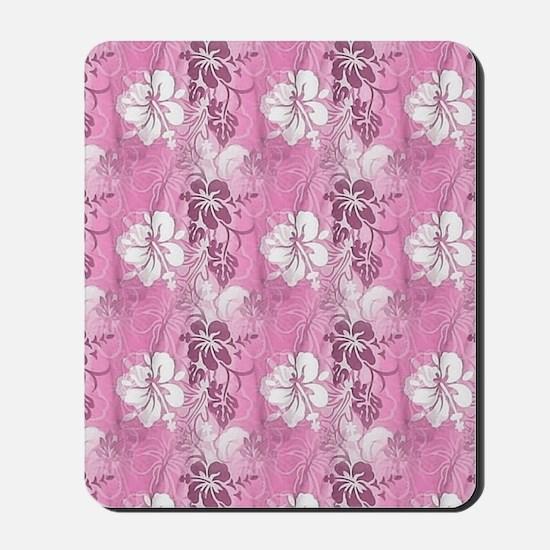 Pink Hawaiian Flowers Mousepad